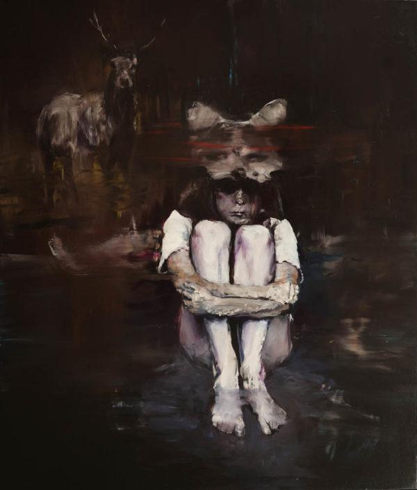 Immobilità dello spirito. Lilith. 2018, cm 120x100, oil con canvas.