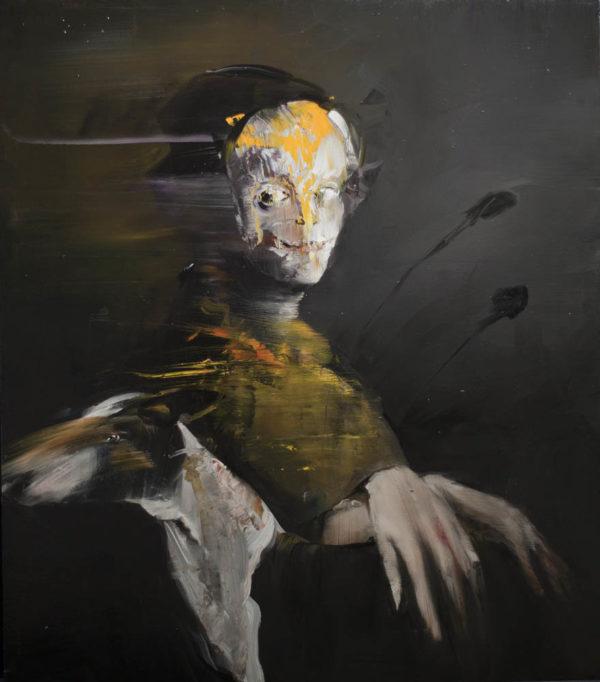 Medea e la sua preferita tra le Chere.  2019, cm 70x60, oil on canvas.