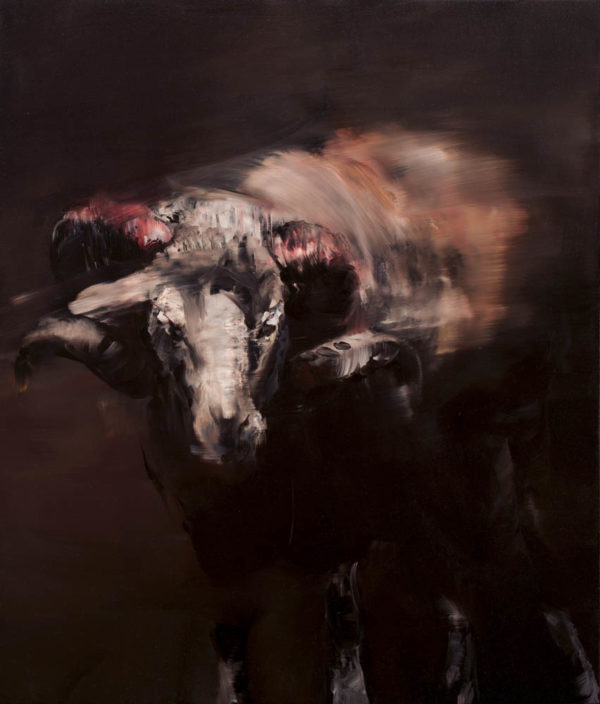 The ram. 2019, cm 70x60, oil on canvas.
