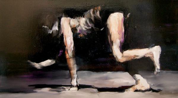 Passaggio orizzontale.  2017, cm 70x130, oil on canvas.
