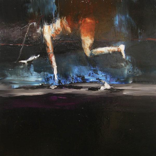 Passaggio orizzontale: trasfigurazione. 2018, cm 60x60, oil on canvas.