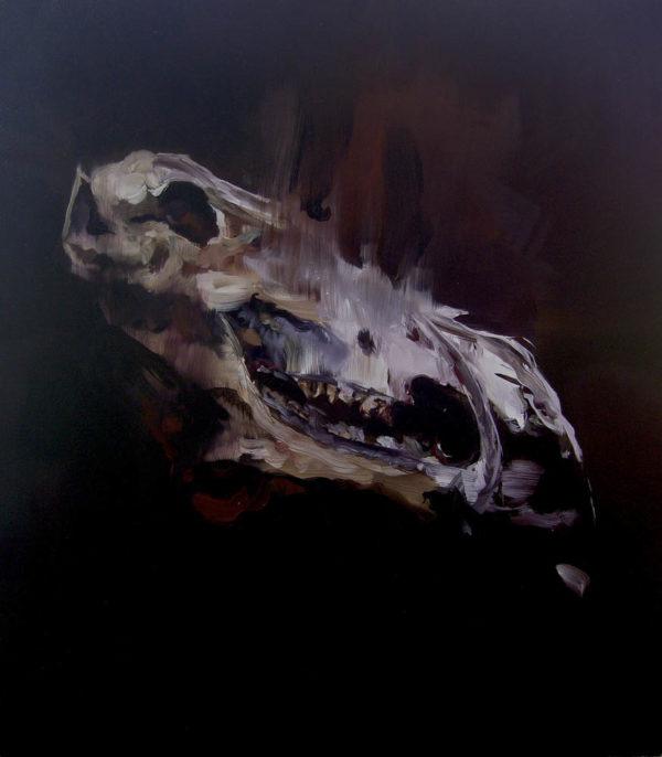 Quello che rimane, primo atto: animalità. 2018, cm 70x60, oil on canvas.