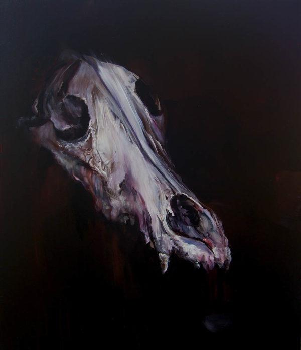 Quello che rimane, secondo atto: predatore. 2018, cm 70x60, oil on canvas.