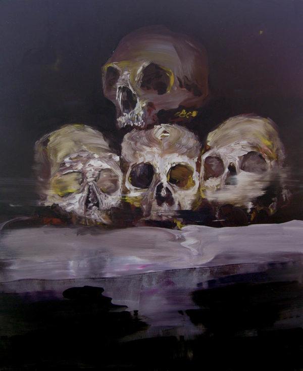 Quello che rimane, terzo atto: progenie. 2018, cm 70x60, oil on canvas.